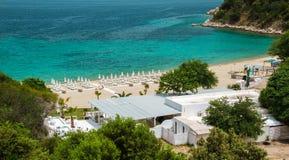 Oneiru海滩, Armenistis 免版税库存图片