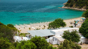 Oneiru plaża, Armenistis Obraz Royalty Free