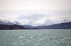 Onelli从阿根廷湖,阿根廷的冰川视图 免版税图库摄影