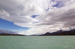 Onelli从阿根廷湖,阿根廷的冰川视图 库存照片