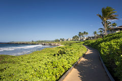 Oneloa or Ironwoods Beach, west coast of Maui, Hawaii Stock Images