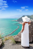 Onely woman looking on scenic view Royalty Free Stock Images