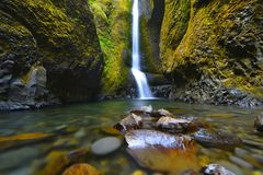 Oneonta Falls in Oregon Royalty Free Stock Photos