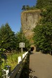Oneonta Gorge Tunnel. Vertical Photogrpahy. Oregon, United States Stock Photos