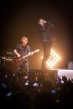 OneRepublic exécute vivant à l'arène de MEO le 21 novembre 2014 à Lisbonne, Portugal Photographie stock libre de droits
