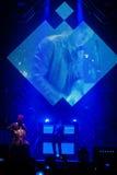 OneRepublic führt Live an MEO-Arena am 21. November 2014 in Lissabon, Portugal durch Lizenzfreie Stockfotos