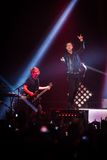 OneRepublic performs live at MEO Arena on November 21, 2014 in Lisbon, Portugal Royalty Free Stock Photo