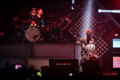 OneRepublic performs live at MEO Arena on November 21, 2014 in Lisbon, Portugal Stock Photo