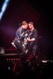 OneRepublic wykonuje żywego przy MEO areną na Listopadzie 21, 2014 w Lisbon, Portugalia Obraz Stock