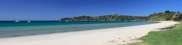Oneroa Beach Panorama Royalty Free Stock Images