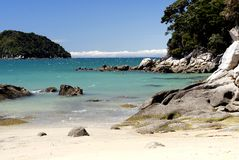Onetahuti Beach in Abel Tasman National Park, New Zealand. royalty free stock photos