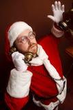 Oneven Kerstman Stock Afbeelding