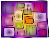 Oneven Vierkante Spiraalvormige Achtergrond 2 Stock Afbeelding