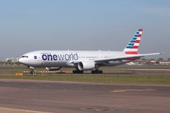 Oneworld - American Airlines Images stock