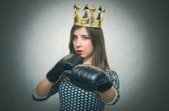 Сonfident and proud woman. Female rivalry. Bossy girl. Stock Photos