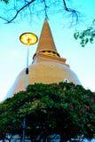 Ong bra prathom chedi. Ong bra prthom chedi is the big golden chedi in Thailand Stock Photos