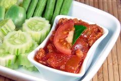 ONG del prik di Nam, pasta nordica tailandese del peperoncino rosso di stile. Fotografia Stock