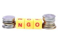 ONG e soldi fotografia stock libera da diritti