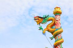 Dragon Statue In Ong Hok Kian Shrine, Surat Thani, Thailand. Ong Hok Kian Shrine was built for the people to remember their ancestors and the three Hokkien gods royalty free stock photography