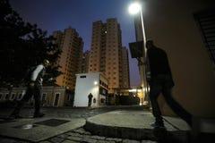 ONG Sermig - everyone opuszcza w ranku Brasil, San - Paolo - zdjęcie royalty free