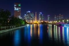 Ongdo Central Park, Incheon Sydkorea Royaltyfri Foto