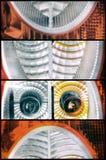 Ongebruikelijk abstract beeld als achtergrond, ogen Stock Afbeelding