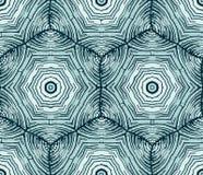 Ongebruikelijk abstract hand-drawn patroon Vector Stock Illustratie