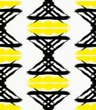 Ongebruikelijk Geschilderd Zwart Geel Garland Pattern Stock Afbeelding