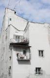 Ongebruikelijk oud huis in het centrum van Lviv Royalty-vrije Stock Afbeeldingen