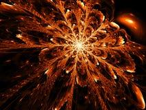 Ongebruikelijke bloem - abstract digitaal geproduceerd beeld Stock Afbeelding