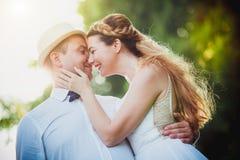 Ongebruikelijke bruid en bruidegom Royalty-vrije Stock Fotografie