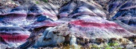 Gekleurde Heuvels ten noordoosten van Terlingua, TX Stock Afbeeldingen
