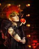 Ongebruikelijke heks Halloween Royalty-vrije Stock Foto's