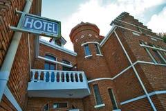 Ongebruikelijke hotelarchitectuur Stock Foto's
