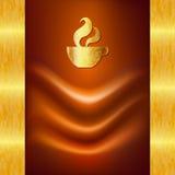 Ongebruikelijke kaart met een kop van koffie. Stock Foto