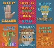 Ongebruikelijke motieven en inspirational citatenaffiches Reeks 14 vector illustratie
