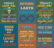 Ongebruikelijke motieven en inspirational citatenaffiches Reeks 5 Royalty-vrije Stock Afbeelding
