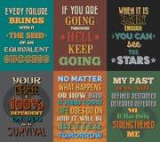 Ongebruikelijke motieven en inspirational citatenaffiches Reeks 1 Stock Afbeeldingen