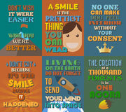 Ongebruikelijke motieven en inspirational citatenaffiches Reeks 8 Royalty-vrije Stock Afbeelding