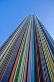 Ongebruikelijke wolkenkrabber in moderne voorstad Parijs Royalty-vrije Stock Fotografie