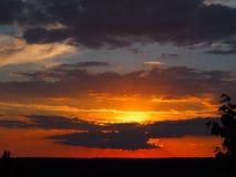 Ongebruikelijke zonsondergang Royalty-vrije Stock Foto's
