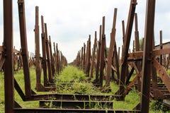 Ongebruikt spoorwegvervoer Stock Foto