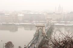 Ongediertecityscape, Boedapest, Hongarije Royalty-vrije Stock Afbeeldingen