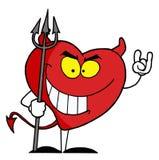 Ongehoorzaam rood hartkarakter Royalty-vrije Stock Afbeeldingen