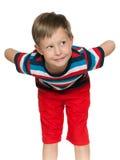 Ongehoorzame jonge jongen Stock Afbeeldingen