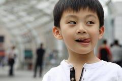 Ongehoorzame jongen Royalty-vrije Stock Foto's