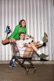 Ongehoorzame meisjes Stock Foto