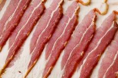 Ongekookt Bacon Royalty-vrije Stock Afbeeldingen