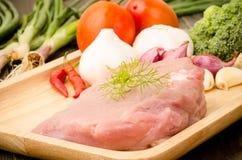Ongekookt varkensvlees Stock Afbeeldingen
