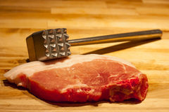Ongekookt varkensvlees Royalty-vrije Stock Foto's